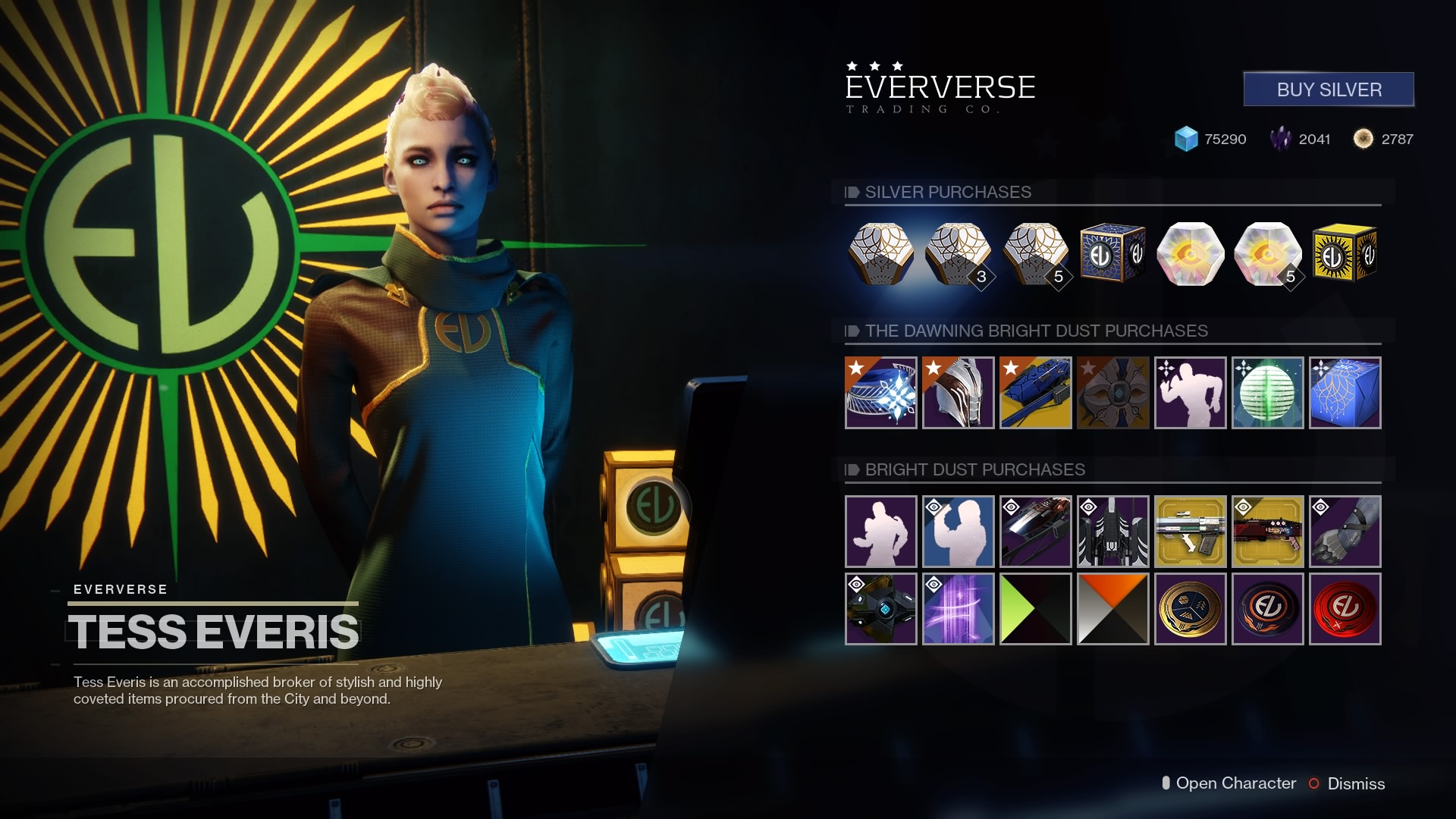 The Eververse in-game storefront